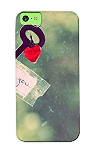 Podiumjiwrp High-end Case Cover Protector For Iphone 5c(key With A Heart )