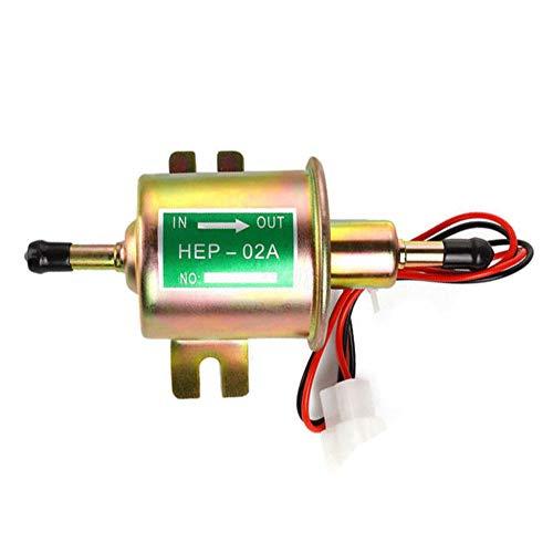Electric Fuel Pump 12v Universal Fuel Transfer Pump 2.5-4 PSI 5/16 inch Inlet and Outlet Fuel Pump for Carburetor Engine HEP-02A ()