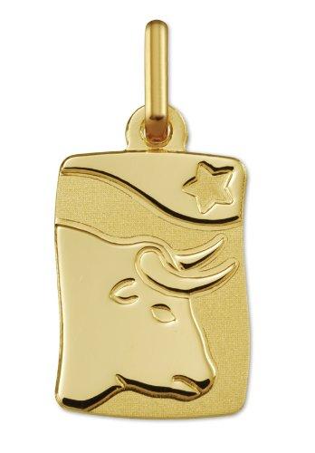 www.diamants-perles.com - Médaille Zodiaque - Or jaune 750/1000 - TAUREAU