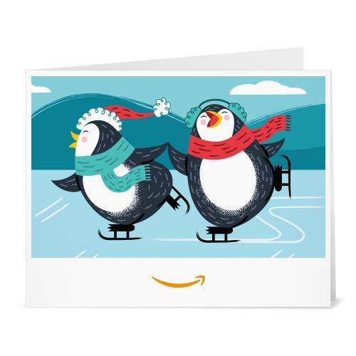 Amazon Gift Card - Print - Skating Penguins (Cheer Be Christmas Of Good)