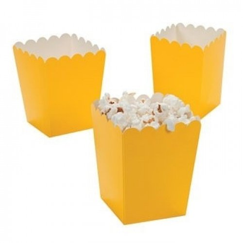 Mini Popcorn Boxes - Yellow - Teacher Resources & Birthday Supplies by Oriental Trading Company (Party Invitations Popcorn)