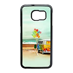 Samsung Galaxy S6 Edge Phone Case, With Multicolored Balloons Image On The Back - Colourful Store Designed