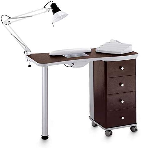 Mesa de manicura profesional Wengé con aspirador de polvo y ...