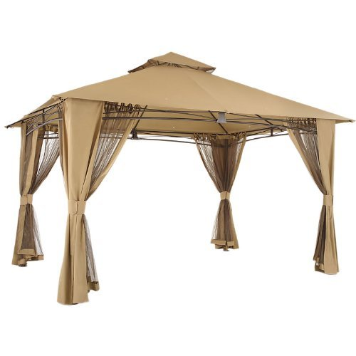 Garden Winds Ultra Grade Riplock Fabric Replacement Canopy for The Waterford Gazebo LCM859B-UGF-RS