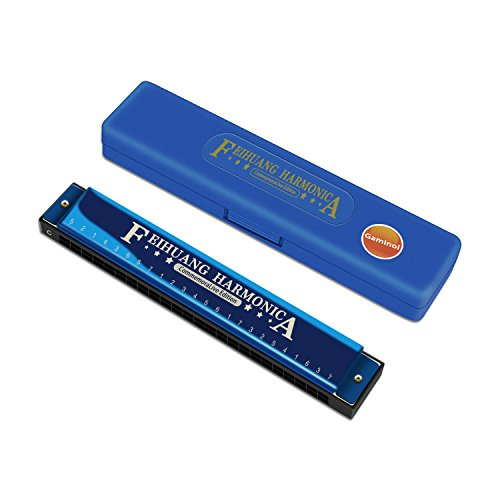 Harmonica ,Key of C,24 Holes Mus...