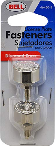 Amazon.com: Bell Automotive 22-1-46460-8 Diamond Cross License Plate Fastener: Automotive