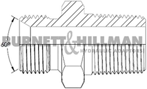 00327 Burnett /& Hillman Hydraulic BSP 5//8 Male x BSPT 1//2 Male Adaptor