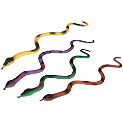 "15.25"" Jumbo Growing Snake – 12 Pieces Assorted Colors, Animal-Themed Events, Party Favor, Birthday Gift, Practical Joke, Educational Tool, Classroom Rewards, Decorations, Theatre Props, Cake Topper"