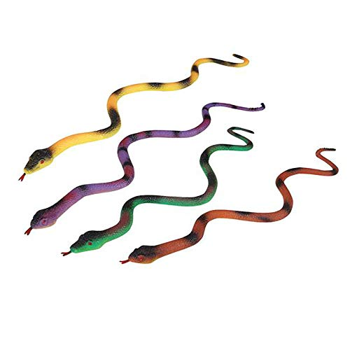 """Growing Snake - 15.25"""" Jumbo Growing Snake – 12 Pieces Assorted Colors, Animal-Themed Events, Party Favor, Birthday Gift, Practical Joke, Educational Tool, Classroom Rewards, Decorations, Theatre Props, Cake Topper"""