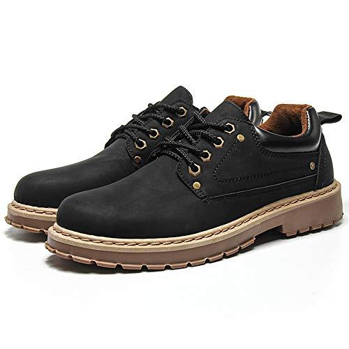 Grandes Casual Invierno Baja Zapatos Y 44 Al Botas Retro Hombres Herramientas Para Moda l Aire Caminar De Libre Primavera negro Otoño Ayuda Adecuados 43 H Martin Los TxqwO655g