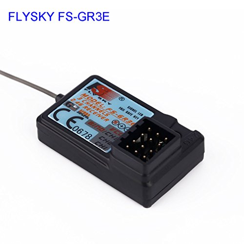Upgraded Waterproof Flysky FS-GR3E 2.4G 3CH Receiver DC 5V for FS-GT2 FS-GT2B FS-GT3B FS-GT3C FZ-IT4S RC Car Boat Transmitter (Waterproof Receivers)