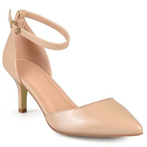Pumps Collection Patent Patent Journee Journee Ankle Collection Nude Strap Womens Womens Ankle gUXwqvW