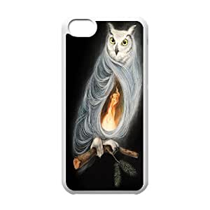 IPhone 5C Cases the Owls are not What They Seem by Dan May, Owl [White]
