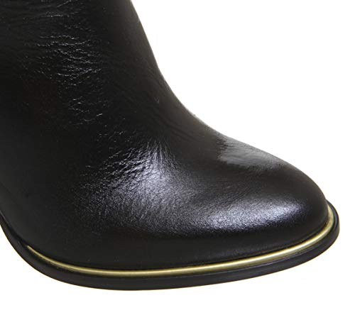 Smart Heel Black Kirby Block Leather Office Boots Knee qaP6nw4
