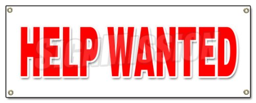 Help Wanted Banner Sign Now Hiring Interview Application Job Position Career ()