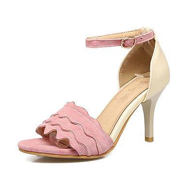 Sandalias Primavera Verano Otoño Zapatos Club Fleece Oficina & Carrera parte & traje de noche Stiletto talón hebilla Beige Rosa Negro Blushing Pink