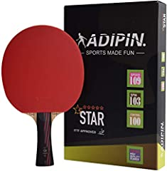 ADIPIN MASTER CARBON PING PONG PADDLE - PingPong Made Fun.  As we all know, Sports made fun. Right equipment makes your Ping-Pong sports quite easier, whether you're a beginner or expert, or you just play in your basement or in a club, if yo...