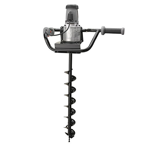 Hiltex¨ 10525 Electric Earth Auger with 4 Inch Bit | 1,200W and 1.6HP Powerhead
