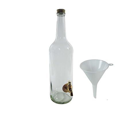 Viva-Haushaltswaren – Botella de cristal con grifo/zapfhahnflasche 1,0 l,