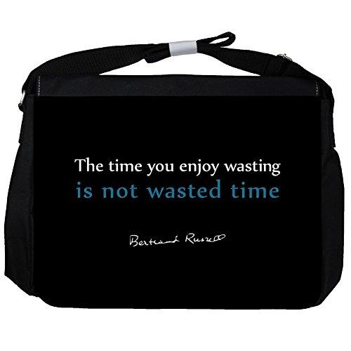 The time you - Bertrand Russell Unisex Umhängetasche
