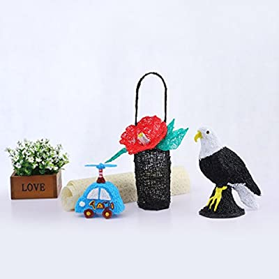 Drawing Art /& Craft Making 3D Modeling Pen Kit with Pen Holder and Pla Filament Refills For High Temprature ODRVM 3D Print Pen with LED Display For Doodling