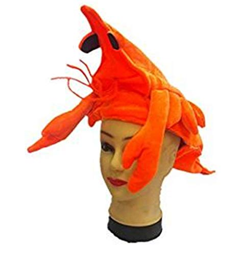 Funny Lobster Hat Halloween Festival Party Stereoscopic Animal Caps Marine life Mardi Gras Party Costume Orange ()