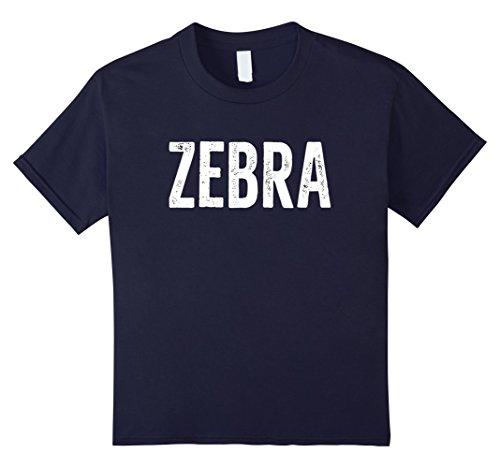 Kids ZEBRA T-Shirt Animal Word Distressed Retro Design 10 - Zebra 10 Retro