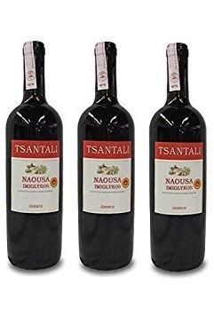 3x Imiglykos Naousa Rotwein lieblich Tsantali je 750ml/11,5% aus Griechenland + 1 Probier Sachets Olivenöl aus Kreta a 10 ml - griechischer roter Wein Rotwein Griechenland Wein Set