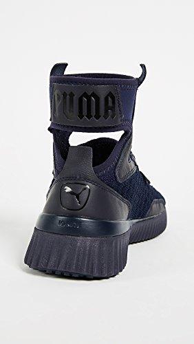 Puma Kvinders Fenty X Træner Midten Geo Sneakers Aften Blå / Puma Sort TAbHje