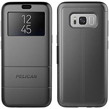 buy popular ec68f 0efe2 Pelican Vault Samsung Galaxy S8 Case (Wallet Case) - Black/Clear Black