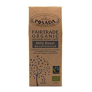 La Posada Mild Roast Decaf, Caffè solubile 100% Arabica, decaffeinato, confezione da 6 x 12 bustine