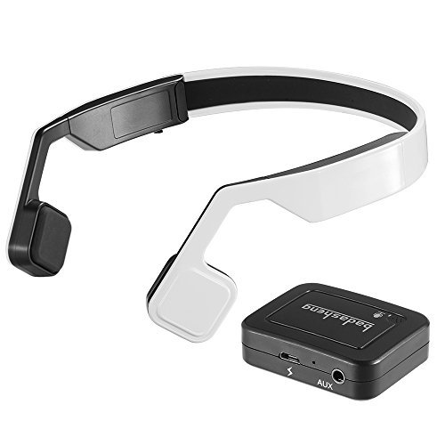 200 Stereo Earphone (Docooler Bluetooth 4.0 Headphones Bone Conduction Stereo Headsets Sweatproof Earphones Hands-free w/ Mic)