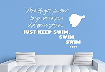Vinyl Wall Decal Sticker Bedroom Kids Dory Finding Nemo Nursery Keep Swim  R1507 Part 47