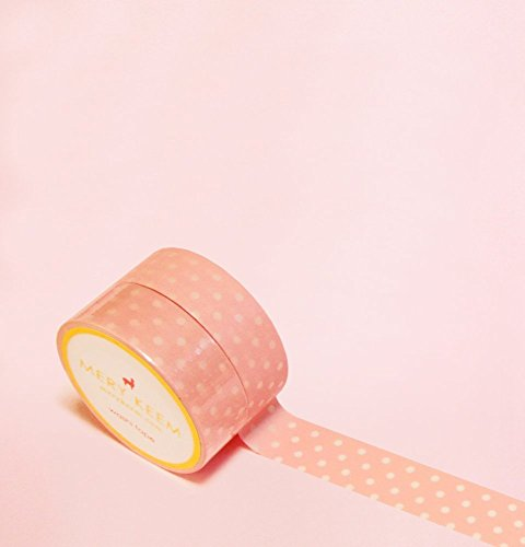Light Pink Polka Dots Washi Tape for Planning • Scrapbooking • Arts Crafts • Office • Party Supplies • Gift Wrapping • Colorful Decorative • Masking Tapes • DIY from Mery Keem