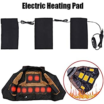 Electric Heating Pad Toullgo,Electric Heating Pad,5V 2A 8.5W Electric USB Clothes Heated Pads Set for Low Temperature Outdoor Winter Camping Night(3-in-1)