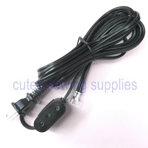 222 221 Featherweight TM Cutex 15-90 66 15-88 Brand Double Lead Power Cord for Singer 27