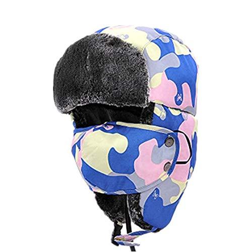 WANK Gorro de Invierno para niños con Cuello y máscaras cálidas y Resistentes al Viento, con Solapas para los oídos,...
