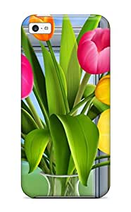 Fashion XEgFbfV14313LlnVg Case Cover For Iphone 5c(tulips Vector)