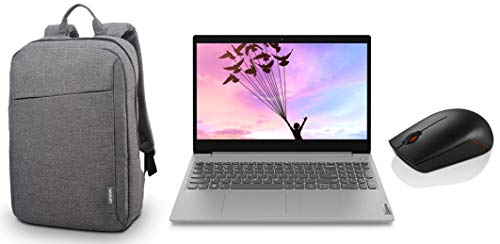 Lenovo Ideapad Slim 3i Intel i3 10th Gen 15.6″ FHD Thin & Light Laptop (4GB/1TB HDD/Win/Office/1.85Kg) 81WE00RCIN + Lenovo Casual Laptop Backpack B210 15.6″ Water Repellent Grey + 300 Wireless Mouse