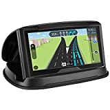GPS Holder for Car, Cell Phone Holder Car Dashboard, Reusable Silicone Pad Universal Car Mount Cradle for Garmin GPS, iPhone 6 Plus 7 Plus 8 Plus X,Samsung Galaxy S9 S8,3-6.8 Inch Smartphones - Black