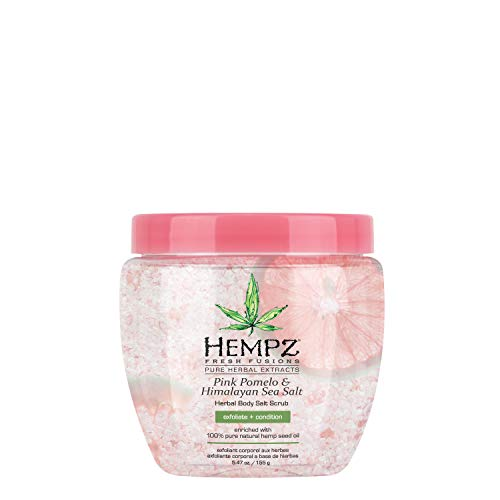 - Hempz Pink Pomelo & Himalayan Sea Salt Herbal Body Salt Scrub, 5.47 Oz, Pack of 1