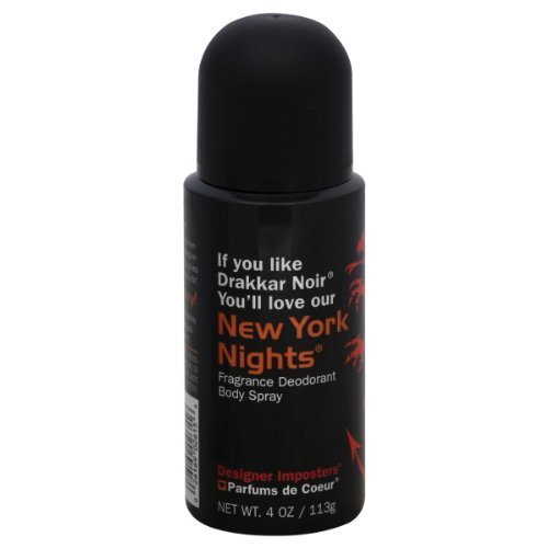 Designer Parfums Ltd - Parfums De Coeur Ltd Designer Imposters New York Nights Body Spray 4 Oz