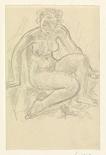 "Classic Art Poster - Seated female nude, Leo Gestel, 1891 - 1941 9"" x 13"""