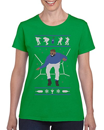 Hotline Bling Drake Popular Falcon's T-Shirt for Women Crew Neck Tee Shirt (Green, X-Large) ()