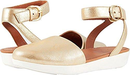 Leather Cova Toe Metallic Metallic Sandals Fitflop Closed Gold 1wnRTfwx