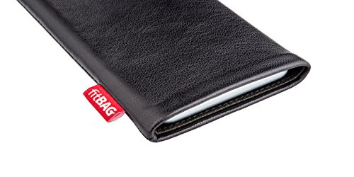 fitBAG Beat Black custom tailored sleeve for Apple iPhone X. Fine nappa leather pouch with integrated microfibre lining for display cleaning by fitBAG (Image #2)
