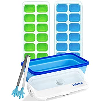 Amazon Com Ice Cube Tray With Storage Container Bin Baby