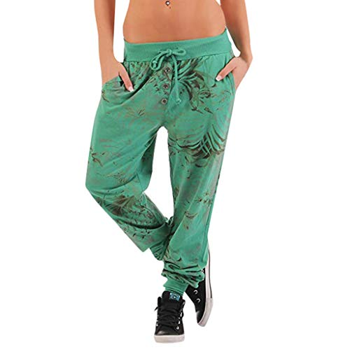 Womens Wide Leg Pants Yoga Sports Loose Casual Lace Up Long Pants Solid Color Trousers Workout Gym Leggings