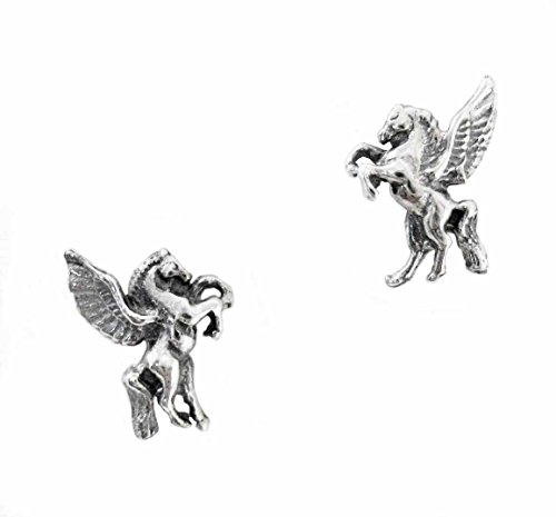 Sterling Silver Pegasus Stud Post -