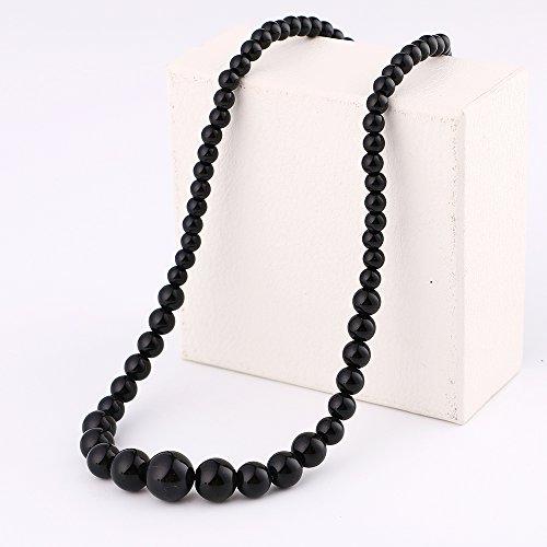 - Yumten Obsidian Necklace Natural Stone Power Crystal Women Jewelry Beads Chain Zelda World Of Warcraft Vintage Steampunk Tesbih Length 48cm